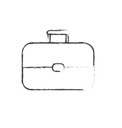 Figure business suitcase to save important vector