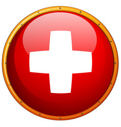 Flag of switzerland in round frame vector