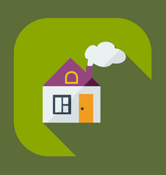 Flat modern design with shadow icons house vector