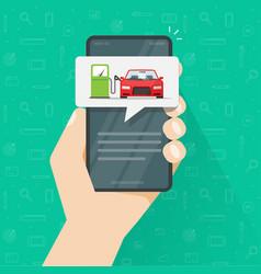 Gas petrol refilling car automobile on fuel vector