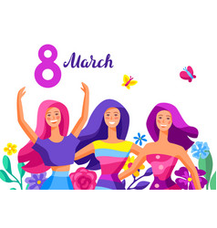 Greeting card for international womens day vector