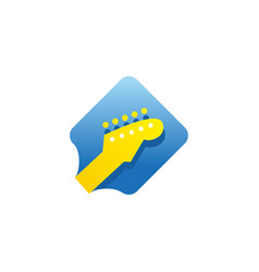 guitar neck icon logo best for music shop music vector image