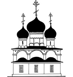 Hand drawing church vector