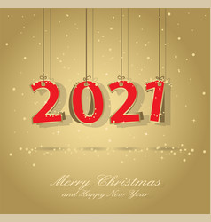 happy new year card 2021 vector image
