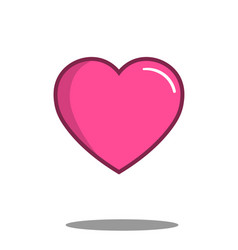 heart icon best love vector image