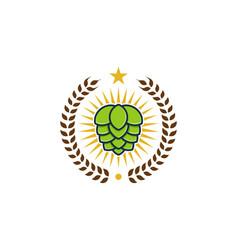 hop beer logo icon design vector image