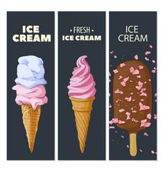 Ice cream cards vector