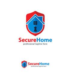 icon symbols home guard key logo design template vector image