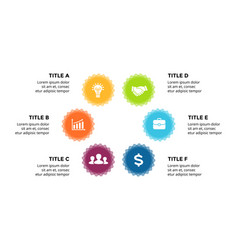 infographic cycle diagram labels graph vector image
