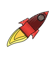 isolated big rocket vector image