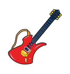 isolated guitar toy vector image