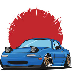Little blue coupe car vector
