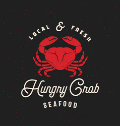 Local fresh seafood abstract retro sign vector