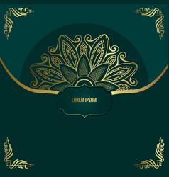 luxury gold mandala ornate background for wedding vector image