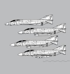 Mcdonnell douglas f-4 phantom ii vector