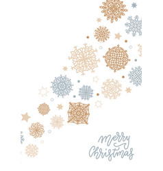 merry christmas background with gold and silver vector image