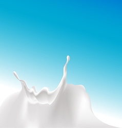 Milk splash at the bottom of the design vector