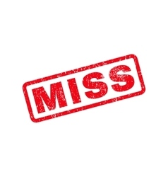 Miss Text Rubber Stamp vector image