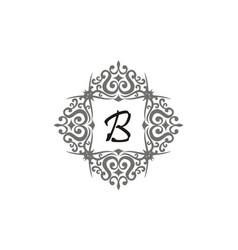 Modern letter b vector