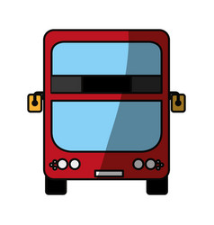 Modern london bus vector