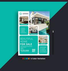 Modern real estate business flyer design templates vector
