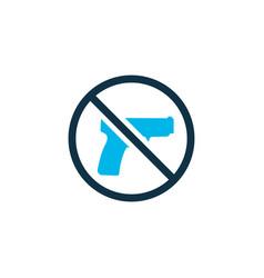 no weapon icon colored symbol premium quality vector image