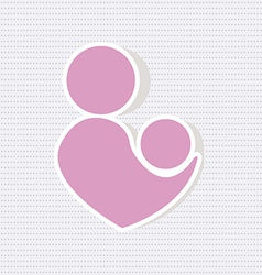 Parent with baby icon vector image