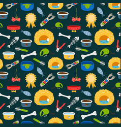 pets accessories colorful seamless pattern vector image