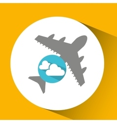 plane travel weather forecast clouds icon vector image