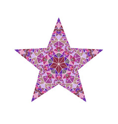 Polygonal isolated colorful geometrical mosaic vector