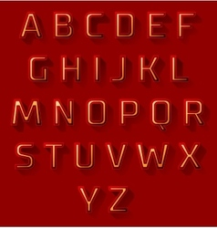 Red font design set vector