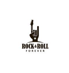 rock music symbol vector image