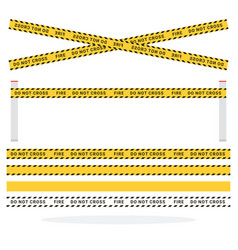 safety tapes flat isolated vector image