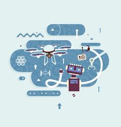 Science robotics vector