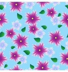 Seamless pattern with lilac flowers vector image