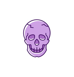 skull icon colorful flat skull logo thin line vector image