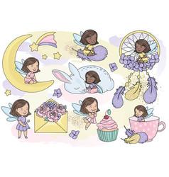 sparkling fairy glitter clipart color vector image