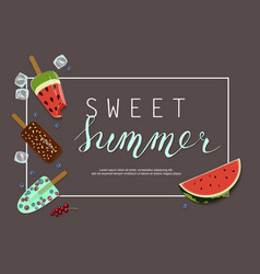 Summer ice-cream menu vector