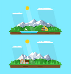 summer mountains landscape vector image