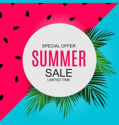 Summer sale concept background vector