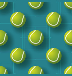 tennis ball seamless pettern realistic tennis vector image