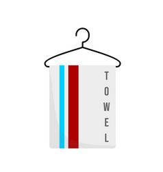 Towel on hanger design vector