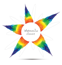 Watercolor rainbow design element with space for t vector