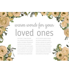 wedding invitation beautiful greeting card vector image