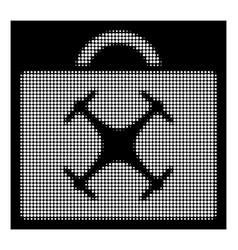 White halftone drone toolbox icon vector