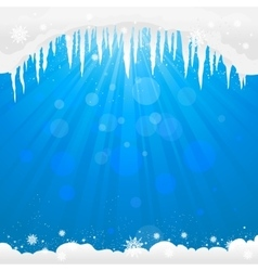 Winter background with icicles vector