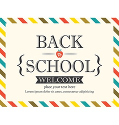 Back to School postcard background template vector image vector image