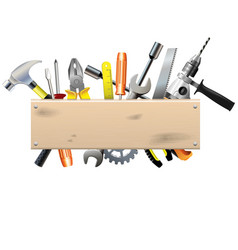 Board with Tools vector image vector image