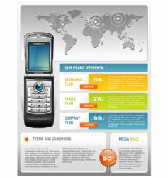 mobile phone ad template vector image vector image