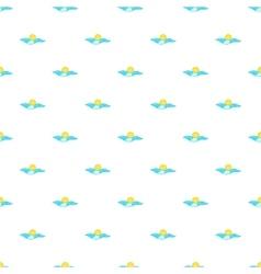 Sea and sun pattern cartoon style vector